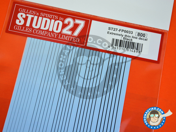 Image 3: Extremely thin line decal black | Decals manufactured by Studio27 (ref. ST27-FP0033)