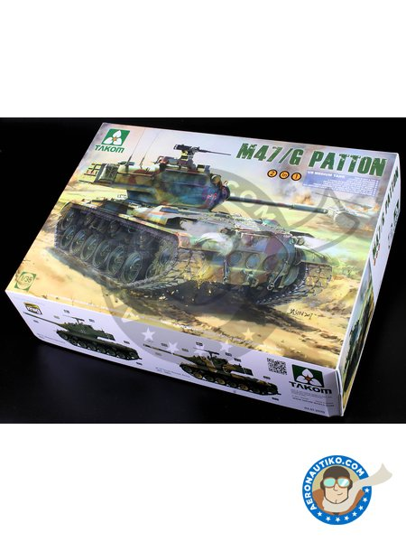 M47/G Patton | Tank kit in 1/35 scale manufactured by Takom (ref. 2070) image