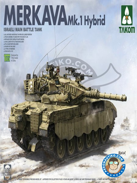 Merkava Mk.1 Hybrid | Tank kit in 1/35 scale manufactured by Takom (ref. 2079) image