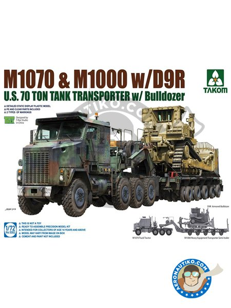 M1070 and M1000 with D9R U.S. 70 Ton tank transporter | Model kit in 1/72 scale manufactured by Takom (ref. 5002) image