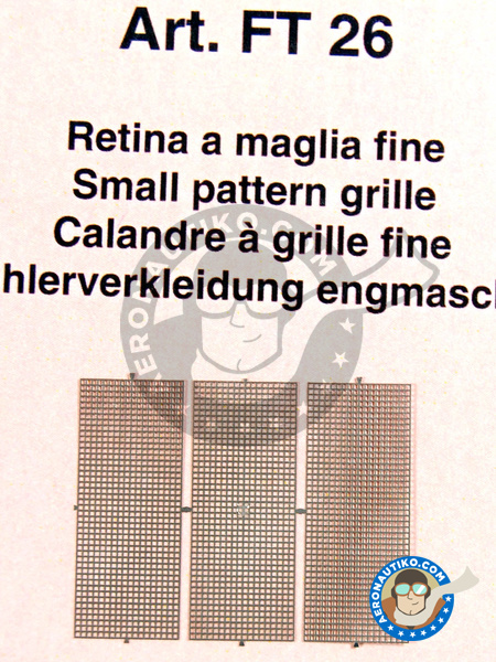 Small pattern grille 10 x 25 mm | Mesh manufactured by Tameo Kits (ref. FT26) image
