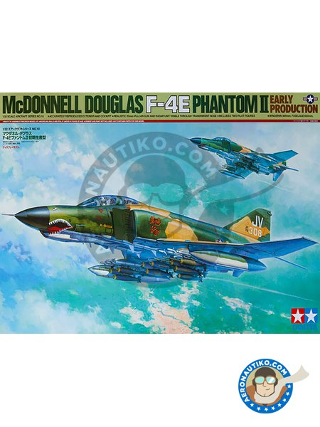 McDonnell Douglas F-4E Phantom II Early Production | Airplane kit in 1/32 scale manufactured by Tamiya (ref. 60310) image
