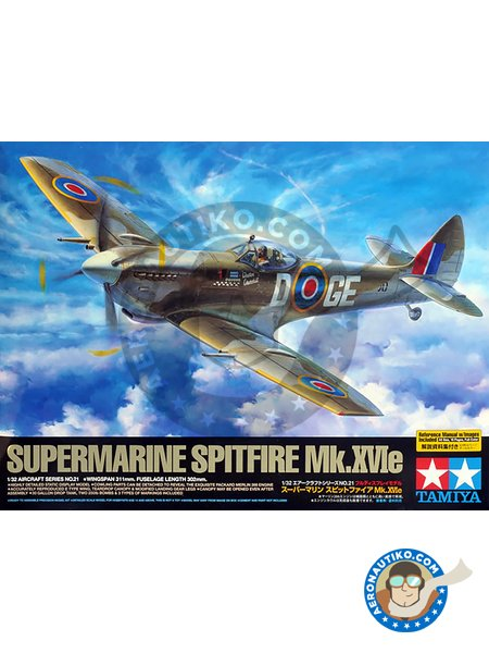 Supermarine Spitfire Mk.XVIe | Airplane kit in 1/32 scale manufactured by Tamiya (ref. 60321) image