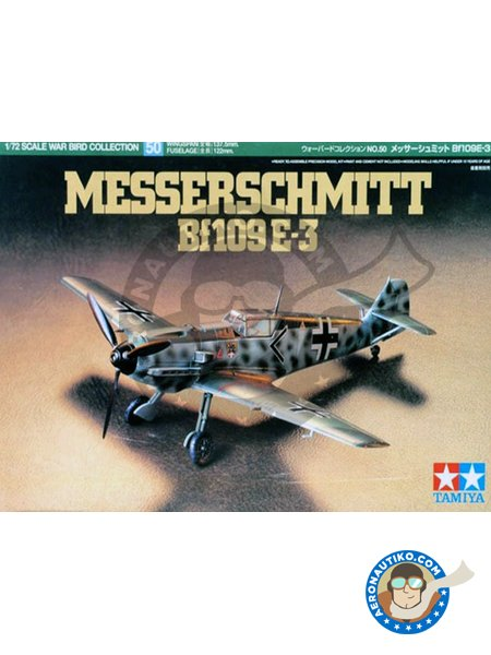 Messerschmitt Bf109 E-3 | Airplane kit in 1/72 scale manufactured by Tamiya (ref. 60750) image