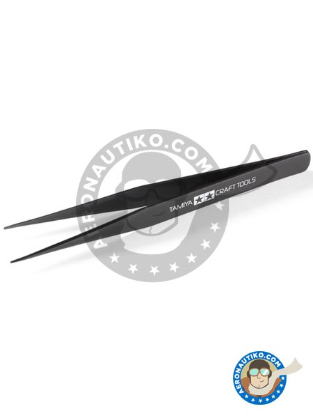 Straight tweezers | Tools manufactured by Tamiya (ref. 74004) image