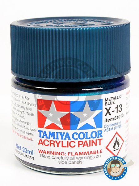 X-13 Metallic blue. 10ml | Acrylic paint manufactured by Tamiya (ref. 81513) image