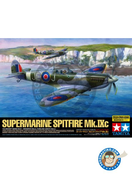 Supermarine Spitfire Mk. IX C | Airplane kit in 1/32 scale manufactured by Tamiya (ref. 60319) image