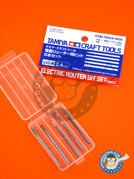 Electric router bit set | Tools manufactured by Tamiya (ref. TAM74043) image