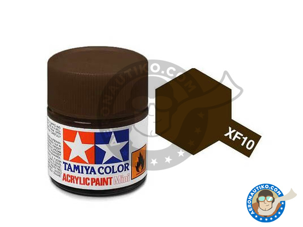 Image 1: Flat Brown XF-10 | Acrylic paint manufactured by Tamiya (ref. TAM81710)