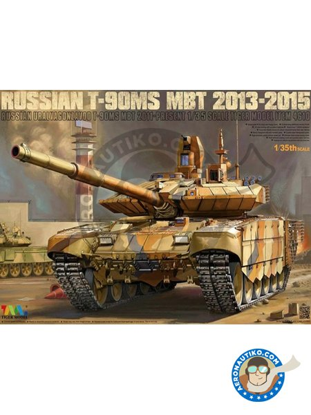 Russian T-90MS MBT | Tank kit in 1/35 scale manufactured by Tiger Model (ref. 4610) image