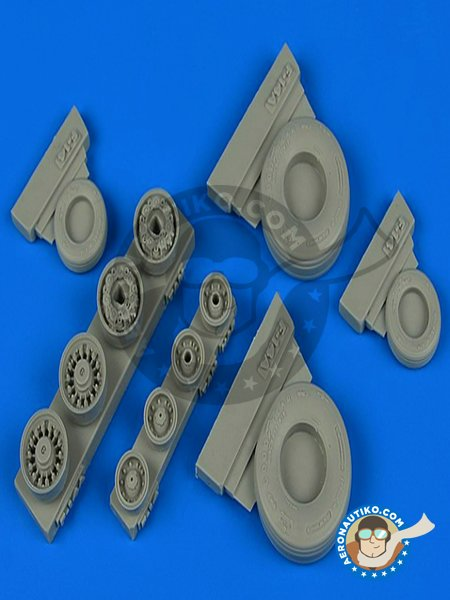 Good Year wheels for F-14 Tomcat | Wheels in 1/48 scale manufactured by Wheelliant (ref. 148.014) image