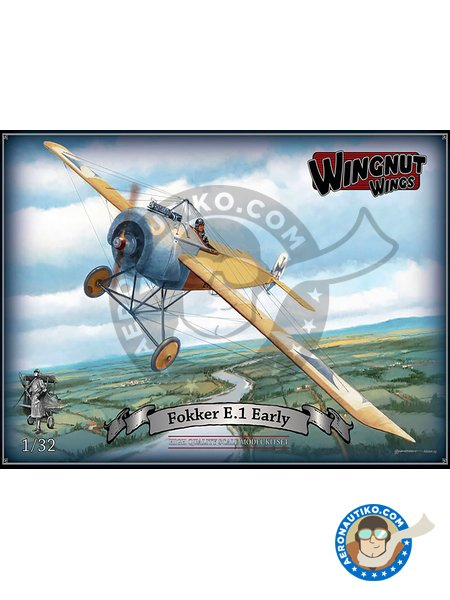 Fokker E.1 Early | Airplane kit in 1/32 scale manufactured by Wingnut Wings (ref. 32021) image