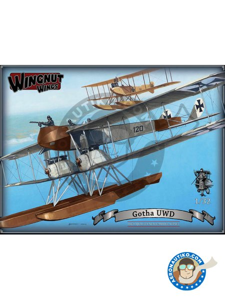 Gotha UWD | Model kit in 1/32 scale manufactured by Wingnut Wings (ref. 32053) image