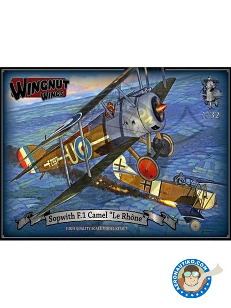 Sopwith F.1 Camel 'Le Rhone' | Airplane kit in 1/32 scale manufactured by Wingnut Wings (ref. 32071) image
