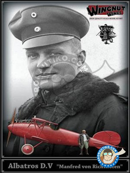 "Albatros D.V ""Manfred von Richthofen"" with figure. 