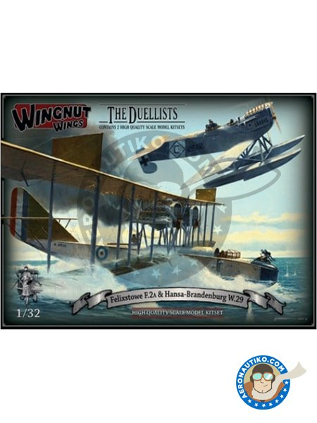 Felixstowe F.2a & Hansa-Brandenburg W.29 | The Duellists | Airplane kit in 1/32 scale manufactured by Wingnut Wings (ref. 32801) image