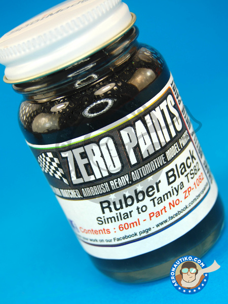 Rubber Black Paint - Similar to TS-82 - 60ml | Paint manufactured by Zero Paints (ref. ZP-1082) image
