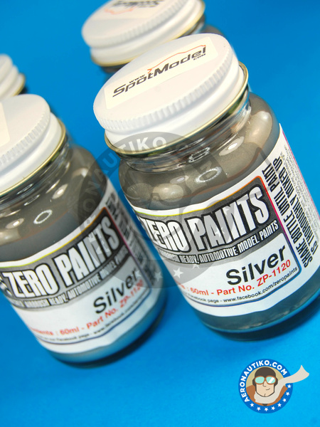 Silver  - 60ml | Paint manufactured by Zero Paints (ref. ZP-1120) image