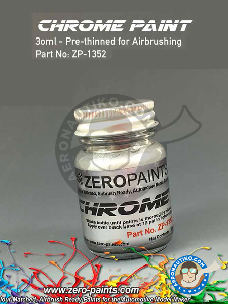 Chrome - 30ml | Paint manufactured by Zero Paints (ref. ZP-1352) image