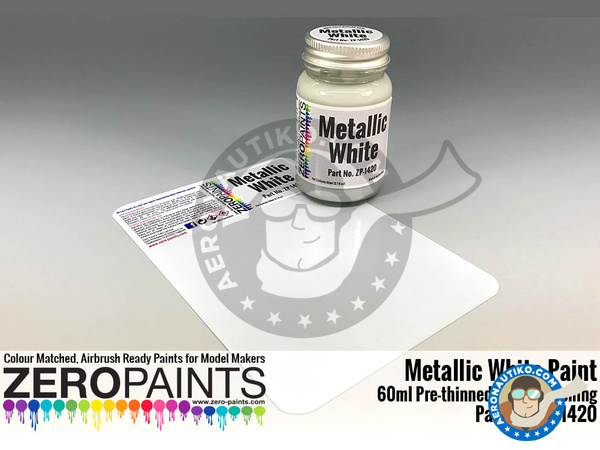 Image 1: Metallic White | Paint manufactured by Zero Paints (ref. ZP-1420)