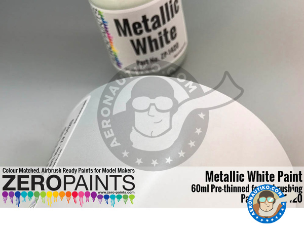 Image 2: Metallic White | Paint manufactured by Zero Paints (ref. ZP-1420)