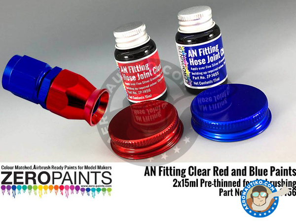 Image 1: AN fitting clear blue and red | Paint manufactured by Zero Paints (ref. ZP-1455-1456)