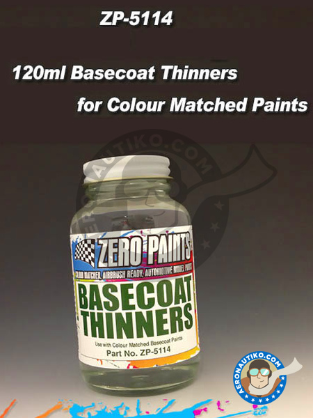 Basecoat thinners - 120ml | Thinner manufactured by Zero Paints (ref. ZP-5114) image