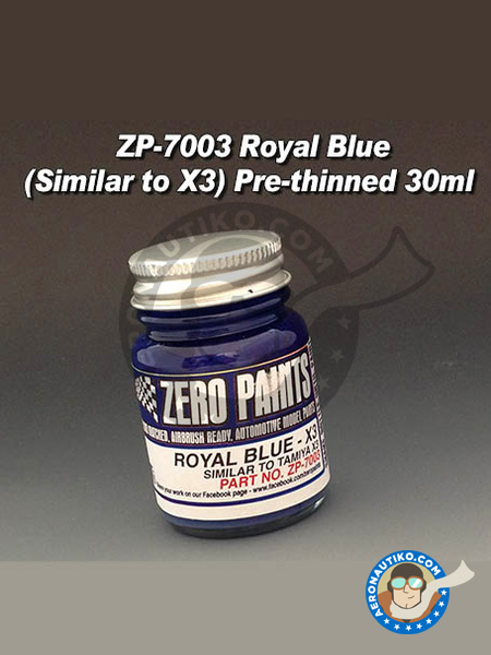 Royal Blue - Similar to X-3 - 30ml | Paint manufactured by Zero Paints (ref. ZP-7003) image