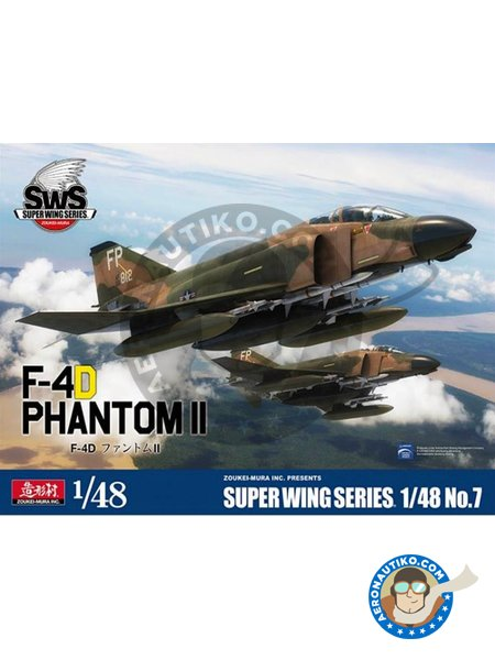 F-4D Phantom II Super Wings Series No.7 | Airplane kit in 1/48 scale manufactured by Zoukei-Mura (ref. SWS48-07) image