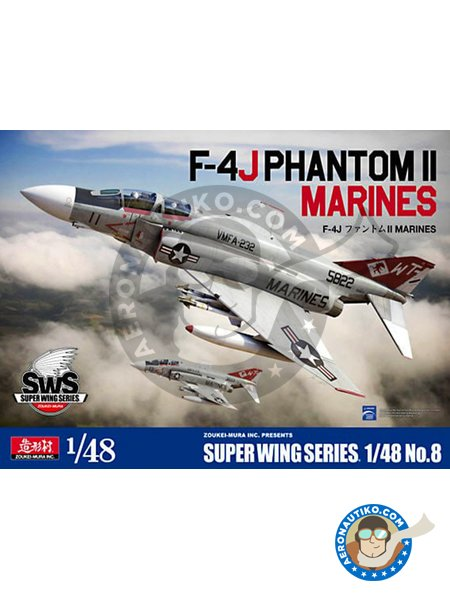 F-4J Phantom Marines || Super Wings Series No.8 | Airplane kit in 1/48 scale manufactured by Zoukei-Mura (ref. SWS48-08) image