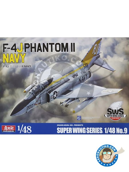F-4J Phantom Navy | Airplane kit in 1/48 scale manufactured by Zoukei-Mura (ref. SWS48-09) image