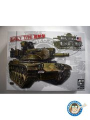 "AFV Club: Tank kit 1/35 scale - M60A2 Patton Early version ""Starship"" - photo-etched parts, plastic parts, rubber parts, turned metal parts, water slide decals and assembly instructions"