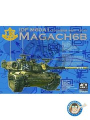AFV Club: Tank kit 1/35 scale - IDF M60A1 Magach 6B - photo-etched parts, plastic parts, water slide decals and assembly instructions