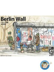 AFV Club: Wall 1/35 scale - Berlin Wall - plastic parts, water slide decals and assembly instructions - for all dioramas or scenes
