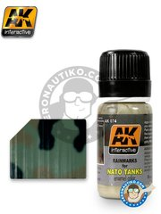 AK Interactive: AK Weathering efect product - Rain Marks for NATO Tanks - 35ml Jar - for all kits or dioramas