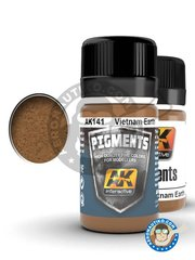 AK Interactive: Pigments - Vietnam earth pigment - 35ml jar - for all kits or dioramas
