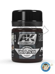 AK Interactive: Air Series - Exhaust wash. - 35 mL jar - for all kits.