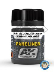 AK Interactive: Air Series - Paneliner for white and winter camouflage. - 35 mL jar. - for all kits.