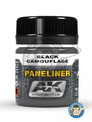 AK Interactive: Air Series - Paneliner for black camouflage. - 35 mL jar.