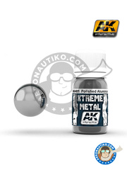 AK Interactive: Xtreme metal paint - Polished aluminium - 30mL Jar - for all kits