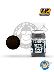 AK Interactive: Xtreme metal paint - Burnt metal - 30mL Jar - for all kits