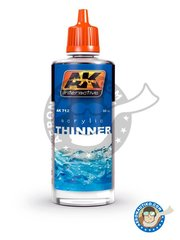 AK Interactive: Thinner - Acrylic Thinner. 60ml - for all acrylic paints