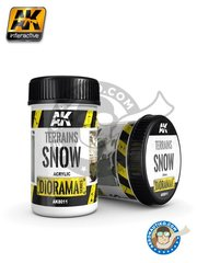 AK Interactive: Textures and Dioramas - Diorama Series: Terrains Snow - 250ml Jar - for all dioramas or scenes