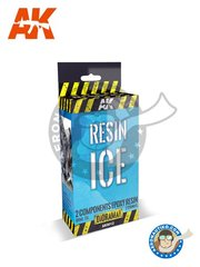 AK Interactive: Textures and Dioramas - Diorama Series: Resin Ice New 2018 - 120ml Resin, 30ml Hardener, 17 ml Frozen Surfaces, 2 Syringes - for all dioramas or scenes