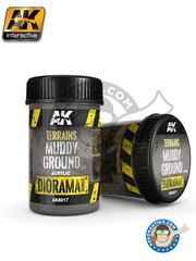 AK Interactive: Textures and Dioramas - Terrains muddy ground. - 1 jar, 250ml - for all scenes or dioramas
