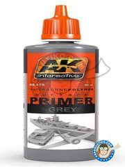 AK Interactive: Primer - Primer grey - 60ml jar - for all kits