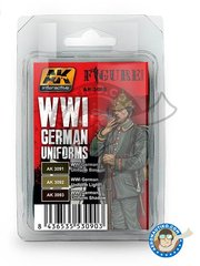 AK Interactive: Acrylic paint - WWI German uniforms colors set - 3 units