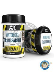 AK Interactive: Textures and Dioramas - Water gel transparent. 250ml - for all dioramas or scenes