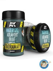 AK Interactive: Textures and Dioramas - Water gel atlantic blue. 250ml - for all dioramas or scenes