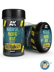 AK Interactive: Textures and Dioramas - Water gel pacific blue. 250ml - for all dioramas or scenes